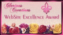 Glorious Creations Web Site Excellence Award